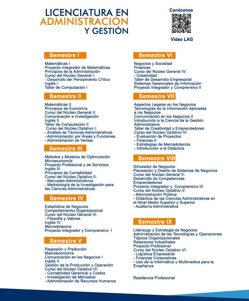 Licenciatura en Administración y Gestión (LAG) | UPSLP