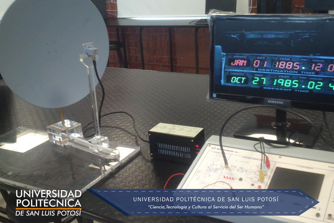 Receptor microondas completo con antena parabólica